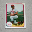 1981 FLEER BASEBALL - Cincinnati Reds Team Set