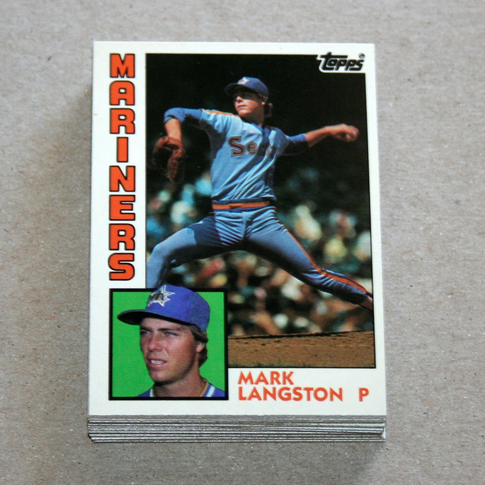 1984 TOPPS BASEBALL - Seattle Mariners Team Set + Traded Series