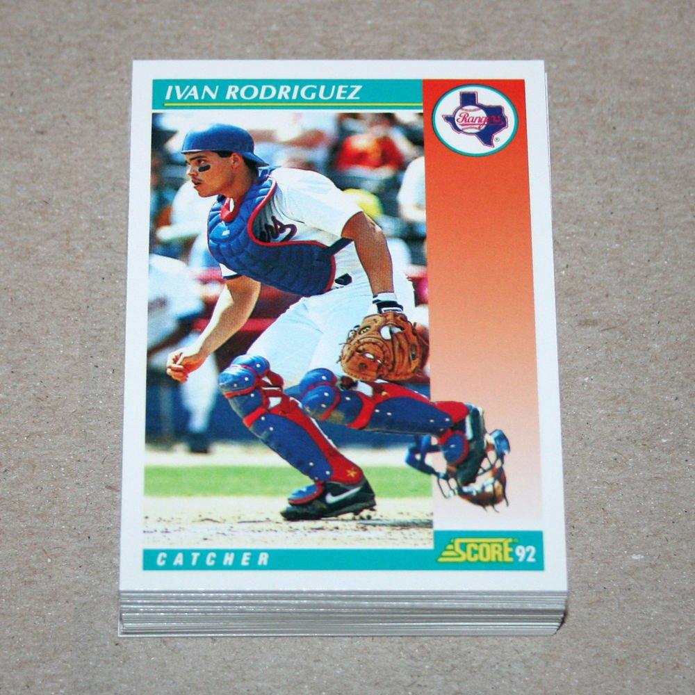 1992 SCORE BASEBALL - Texas Rangers Team Set + Rookie & Traded Series