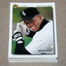 1992 UPPER DECK BASEBALL - Chicago White Sox Team Set + High Number Series