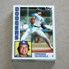 1984 TOPPS BASEBALL - Los Angeles Dodgers Team Set + Traded Series