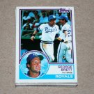 1983 TOPPS BASEBALL - Kansas City Royals Team Set + Traded Series