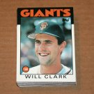 1986 TOPPS BASEBALL - San Francisco Giants Team Set + Traded Series