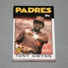 1986 TOPPS BASEBALL - San Diego Padres Team Set + Traded Series