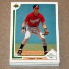 1991 UPPER DECK BASEBALL - Atlanta Braves True Team Set (Low/High/Final)