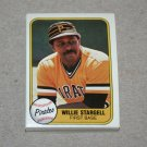 1981 FLEER BASEBALL - Pittsburgh Pirates Team Set