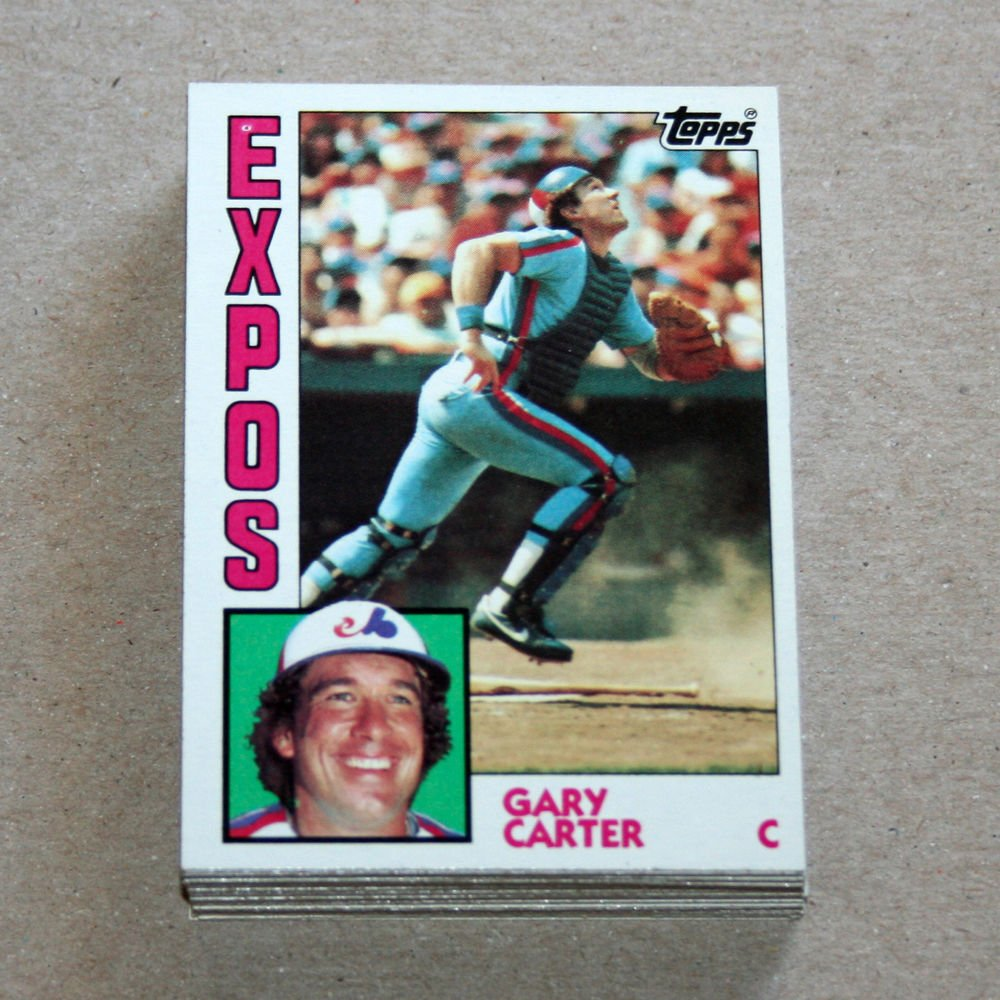 1984 TOPPS BASEBALL - Montreal Expos Team Set + Traded Series