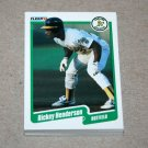 1990 FLEER BASEBALL - Oakland Athletics Team Set + Update Series