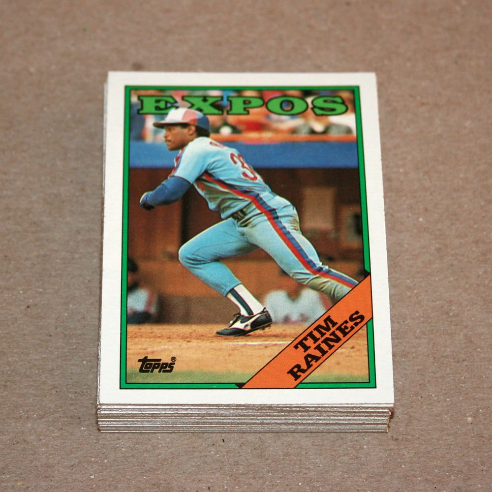 1988 TOPPS BASEBALL - Montreal Expos Team Set + Traded Series