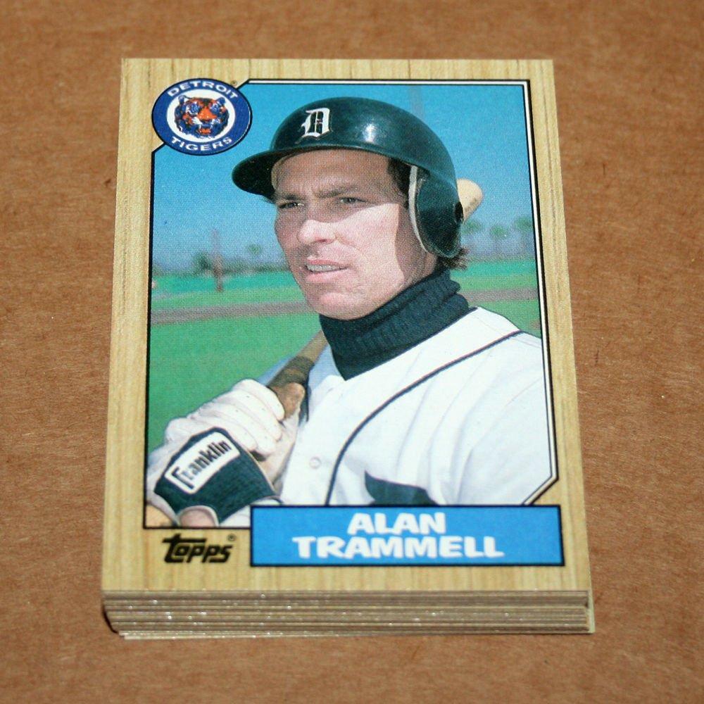 1987 TOPPS BASEBALL - Detroit Tigers Team Set + Traded Series