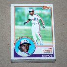 1983 TOPPS BASEBALL - Montreal Expos Team Set + Traded Series