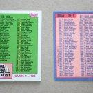 1984 TOPPS BASEBALL - Checklist Set + Traded Series