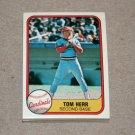 1981 FLEER BASEBALL - St. Louis Cardinals Team Set