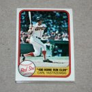 1981 FLEER BASEBALL - Boston Red Sox Team Set