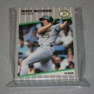 1989 FLEER BASEBALL - Oakland Athletics Team Set + Update Series