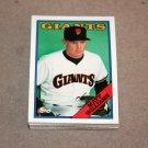 1988 TOPPS BASEBALL - San Francisco Giants Team Set + Traded Series