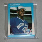1987 FLEER BASEBALL - Toronto Blue Jays Team Set + Update Series