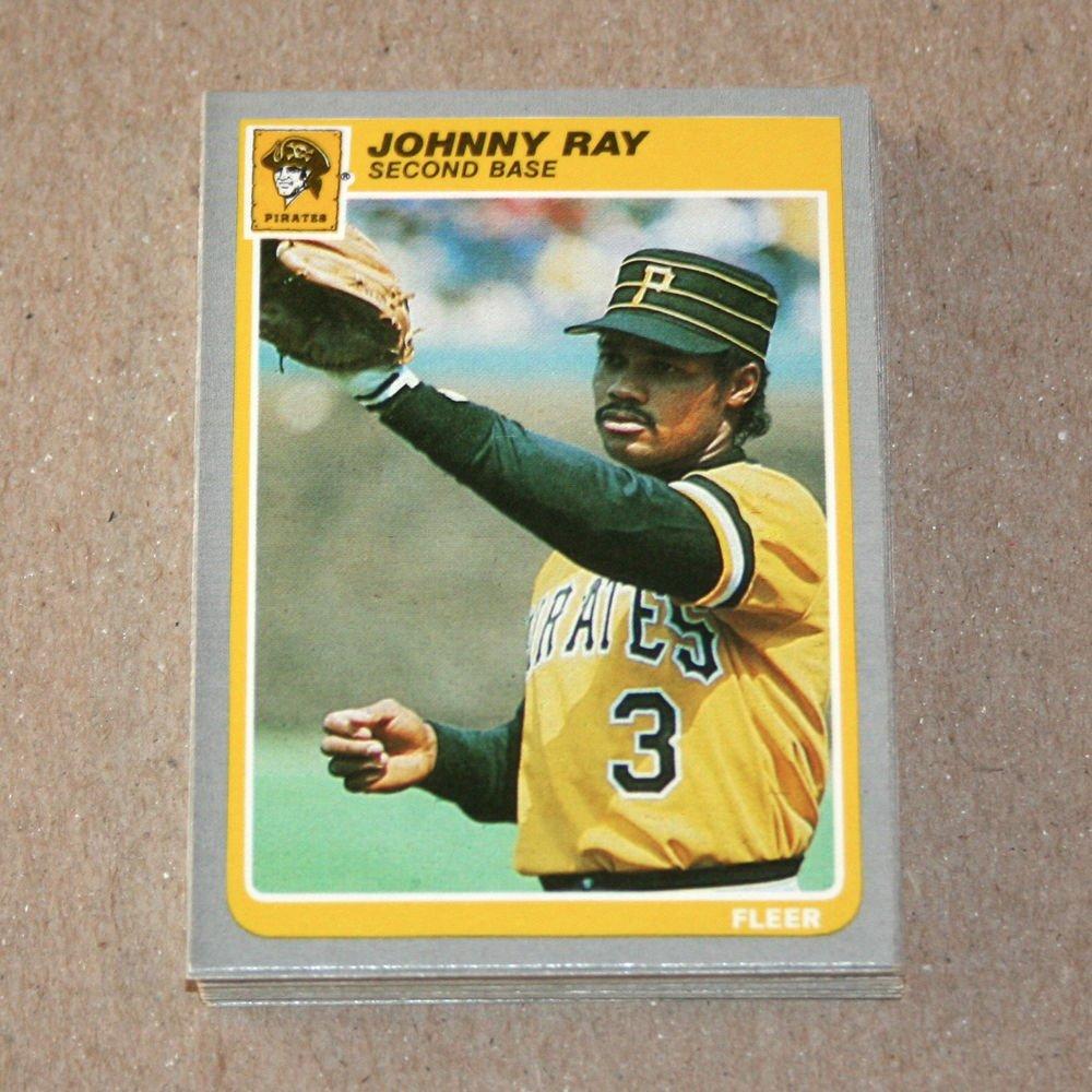 1985 FLEER BASEBALL - Pittsburgh Pirates Team Set + Update Series