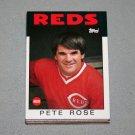 1986 TOPPS BASEBALL - Cincinnati Reds Team Set + Traded Series & Pete Rose Years