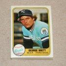 1981 FLEER BASEBALL - Kansas City Royals Team Set