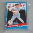 1991 DONRUSS BASEBALL - Oakland Athletics Team Set