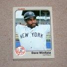 1983 FLEER BASEBALL - New York Yankees Team Set