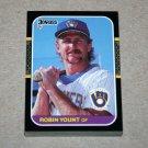 1987 DONRUSS BASEBALL - Milwaukee Brewers Team Set