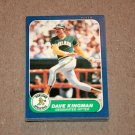 1986 FLEER BASEBALL - Oakland Athletics Team Set