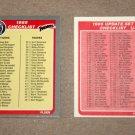 1985 FLEER BASEBALL - Checklist Set + Update Series