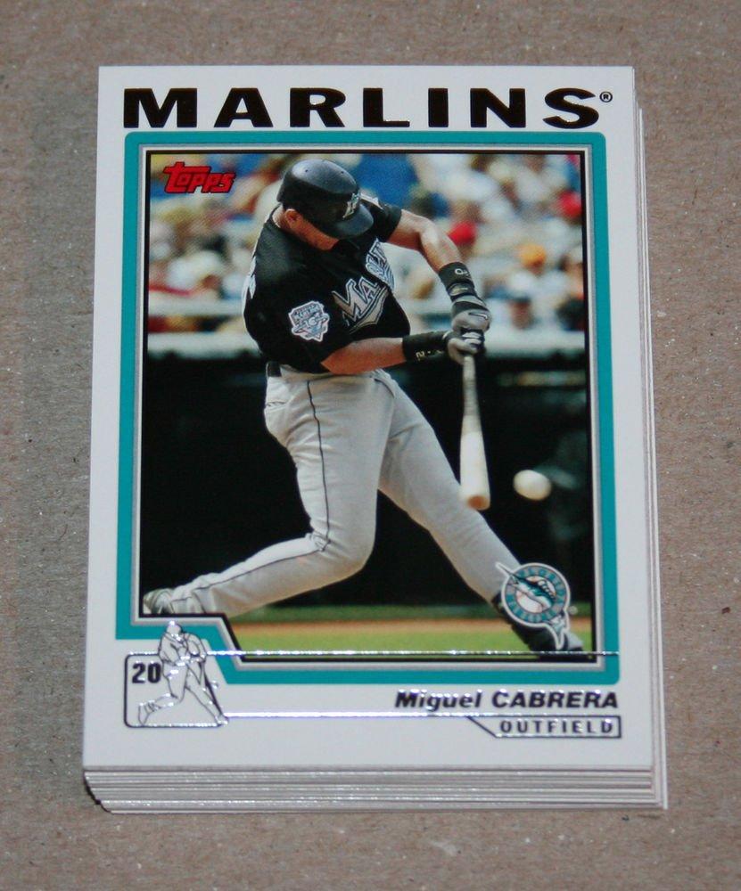 2004 TOPPS BASEBALL - Florida Marlins Team Set (Series 1 & 2)