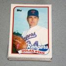 1989 TOPPS BASEBALL - Texas Rangers Team Set + Traded Series