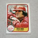 1981 FLEER BASEBALL - Philadelphia Phillies Team Set