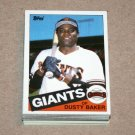 1985 TOPPS BASEBALL - San Francisco Giants Team Set + Traded Series
