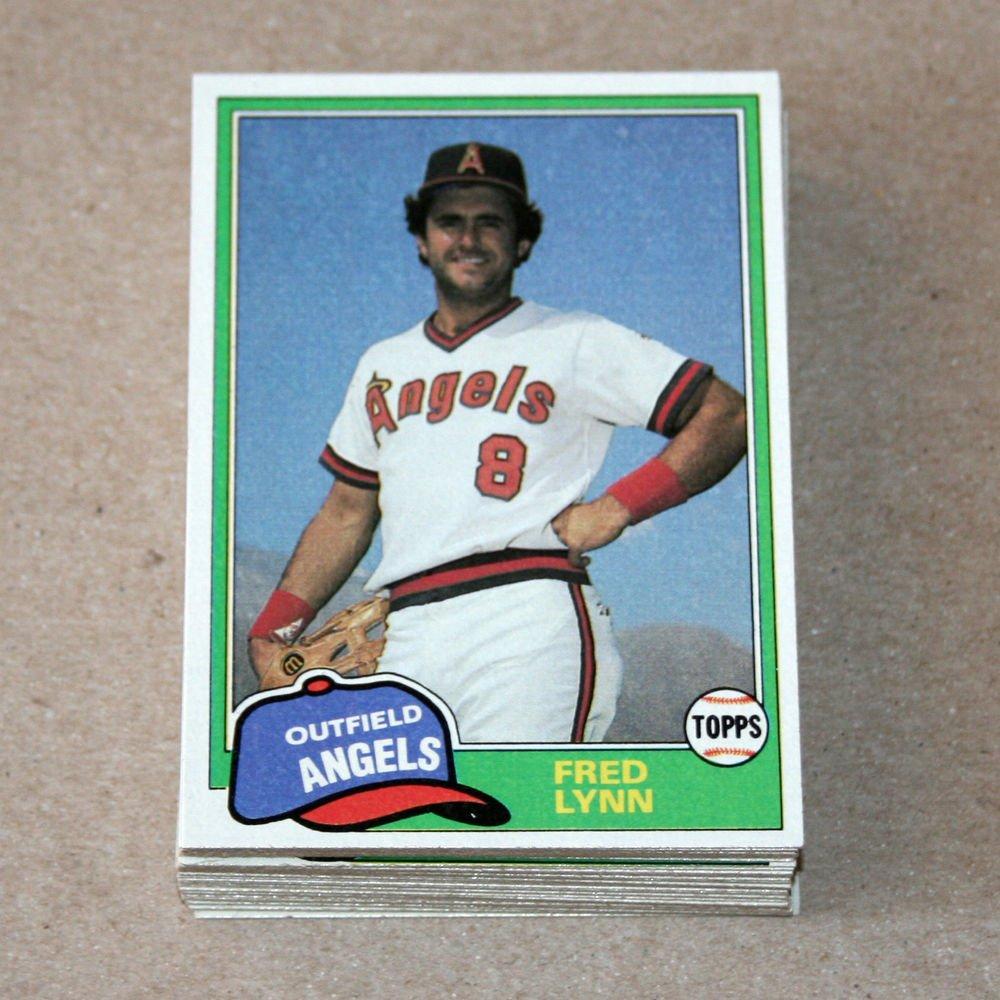 1981 TOPPS BASEBALL - California Angels Team Set + Traded Series
