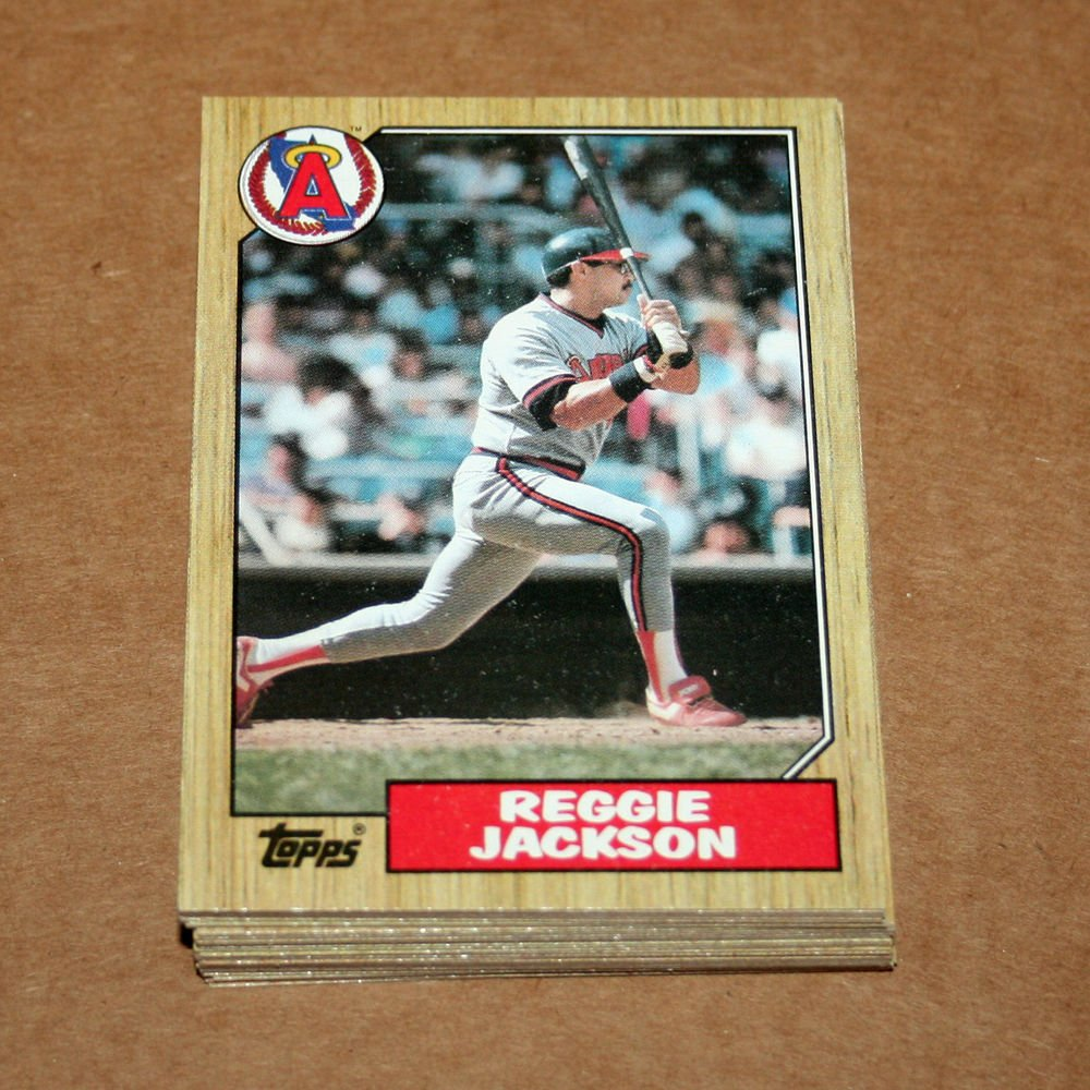 1987 TOPPS BASEBALL - California Angels Team Set + Traded Series