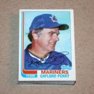 1982 TOPPS BASEBALL - Seattle Mariners Team Set + Traded Series