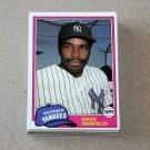 1981 TOPPS BASEBALL - New York Yankees Team Set + Traded Series