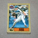 1987 TOPPS BASEBALL - New York Mets Team Set + Traded Series