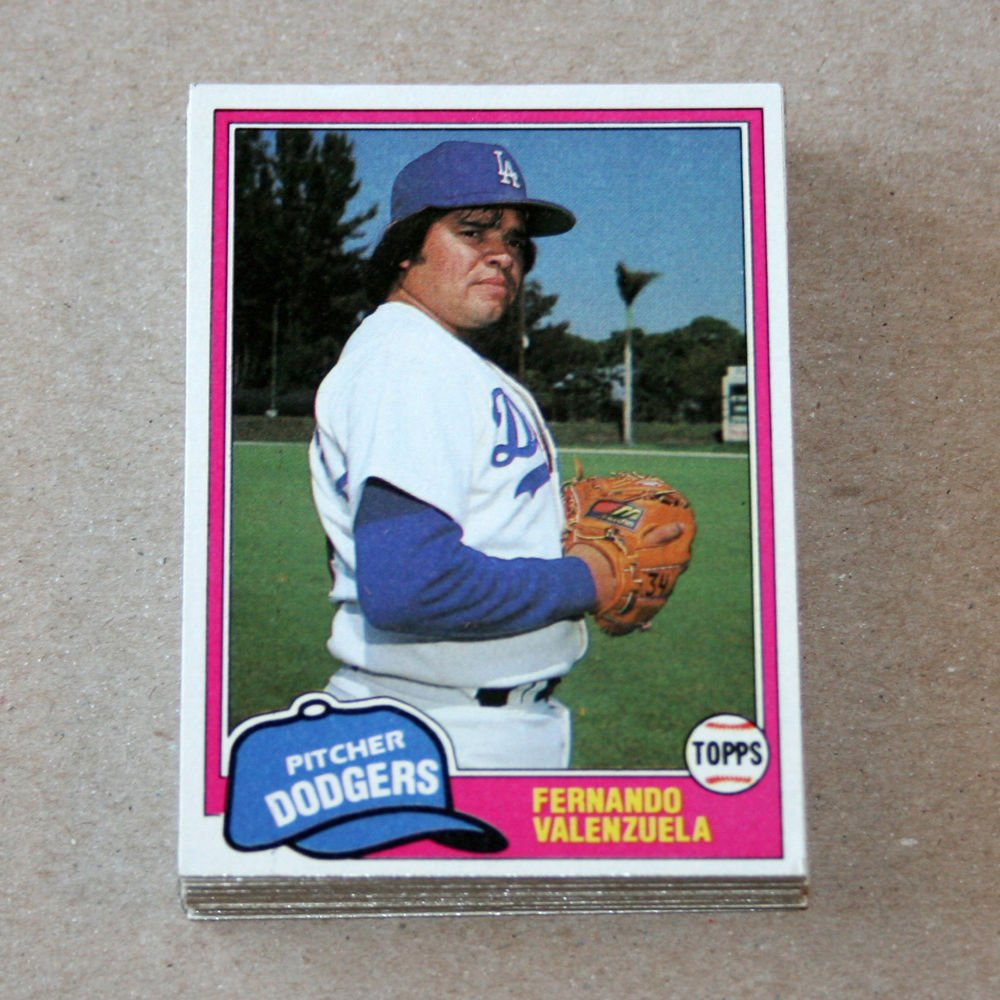 1981 TOPPS BASEBALL - Los Angeles Dodgers Team Set + Traded Series
