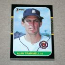 1987 DONRUSS BASEBALL - Detroit Tigers Team Set