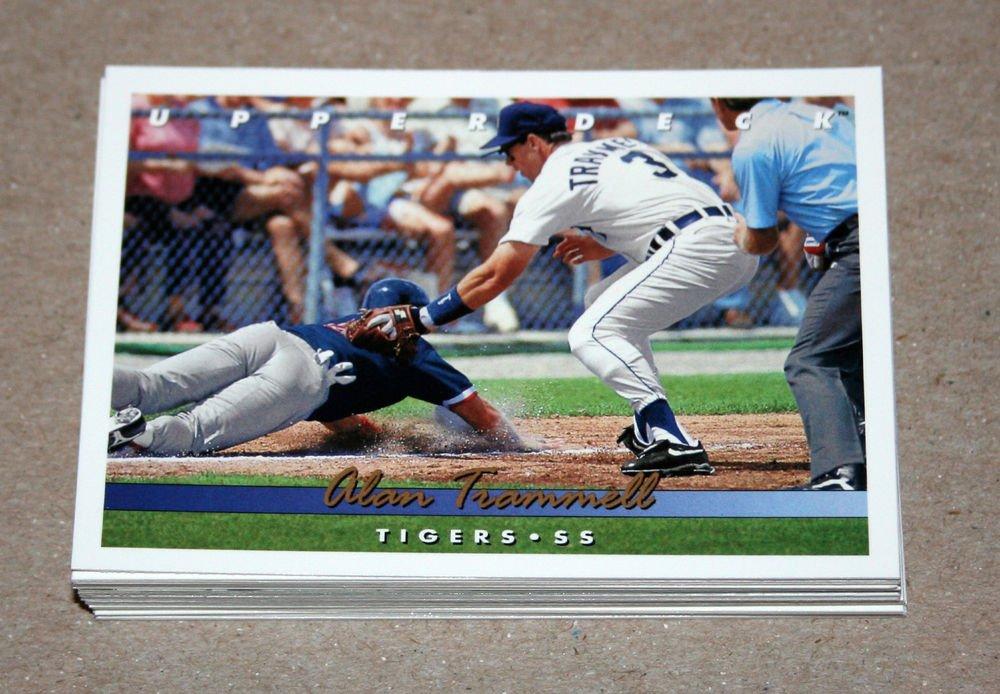 1993 UPPER DECK BASEBALL - Detroit Tigers Team Set (Series 1 & 2)