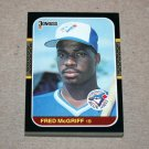 1987 DONRUSS BASEBALL - Toronto Blue Jays Team Set