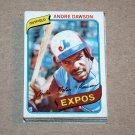 1980 TOPPS BASEBALL - Montreal Expos Team Set