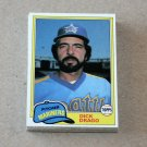 1981 TOPPS BASEBALL - Seattle Mariners Team Set + Traded Series