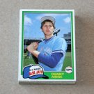 1981 TOPPS BASEBALL - Toronto Blue Jays Team Set + Traded Series
