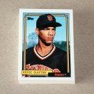 1992 TOPPS BASEBALL - San Francisco Giants Team Set + Traded Series