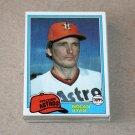 1981 TOPPS BASEBALL - Houston Astros Team Set + Traded Series