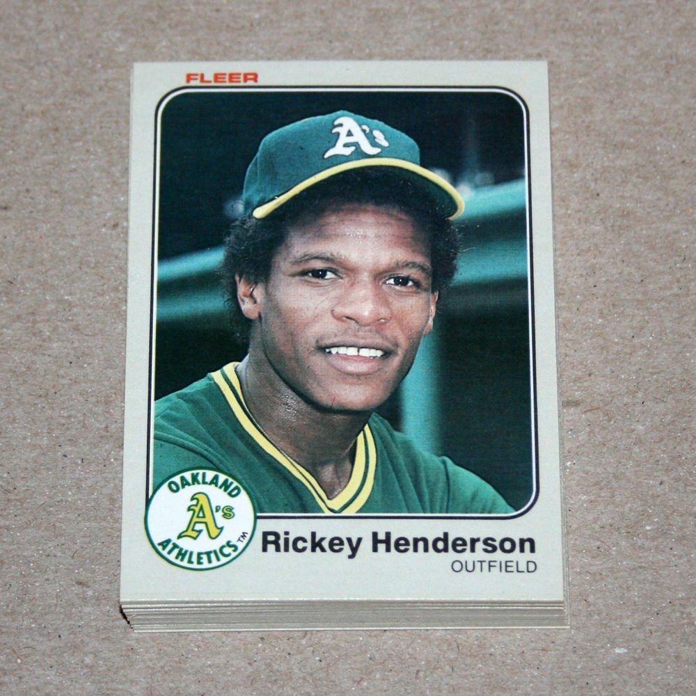 1983 FLEER BASEBALL - Oakland Athletics Team Set