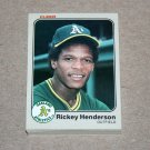 1983 FLEER BASEBALL - Oakland Athletics Team Set