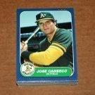 1986 FLEER BASEBALL - Oakland A's Team Set + Update & Jose Canseco Star Sticker